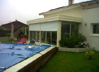 Aluminum Conservatory / With Integrated Roller Shutter   LOFT