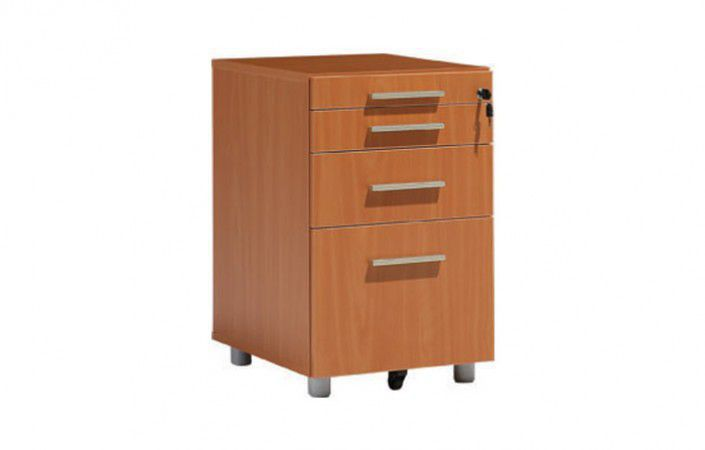 Wooden Office Unit 4 Drawer 3 Key Type