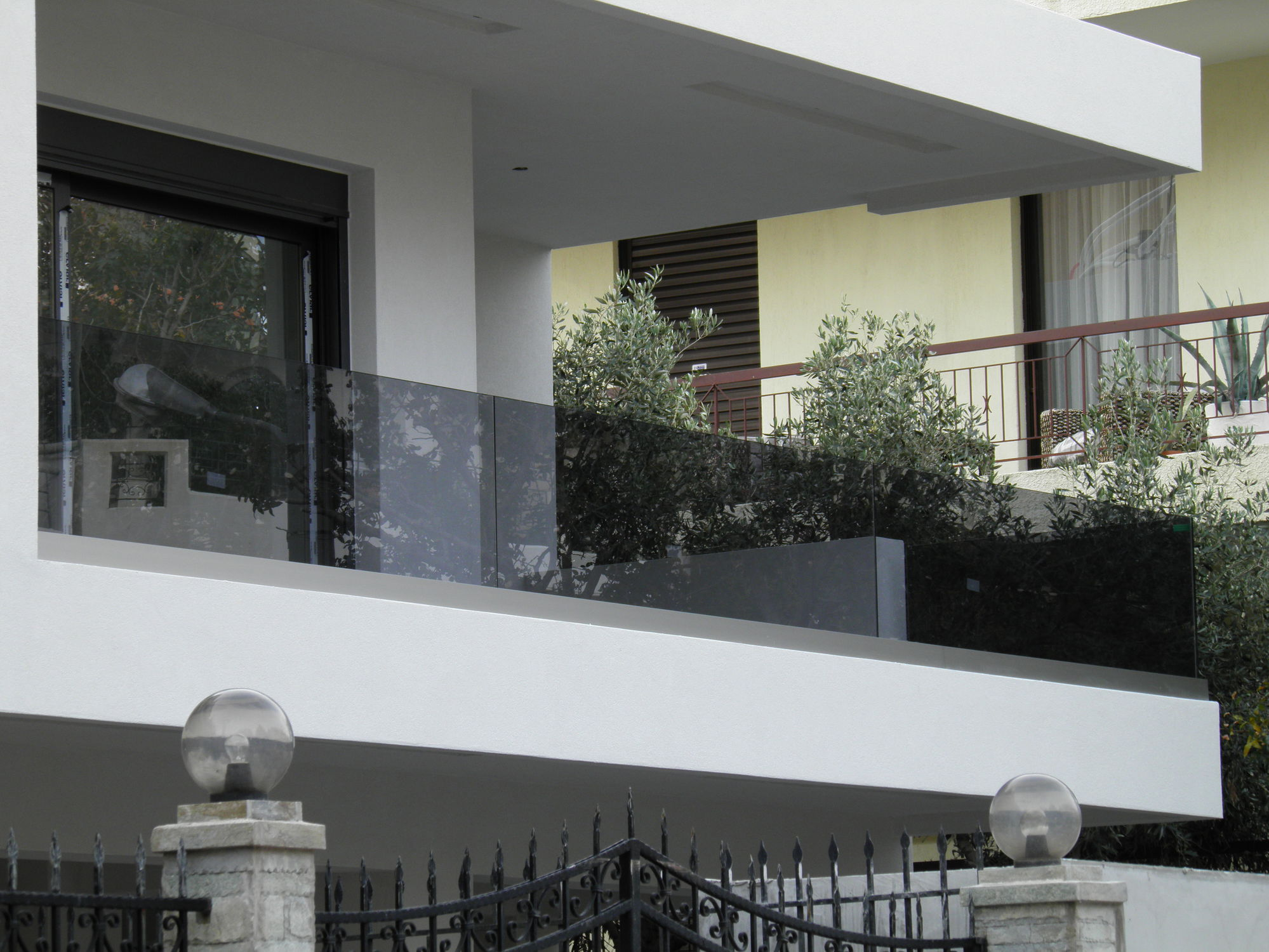 ... Glass Railing / With Bars / Outdoor / For Balconies ...