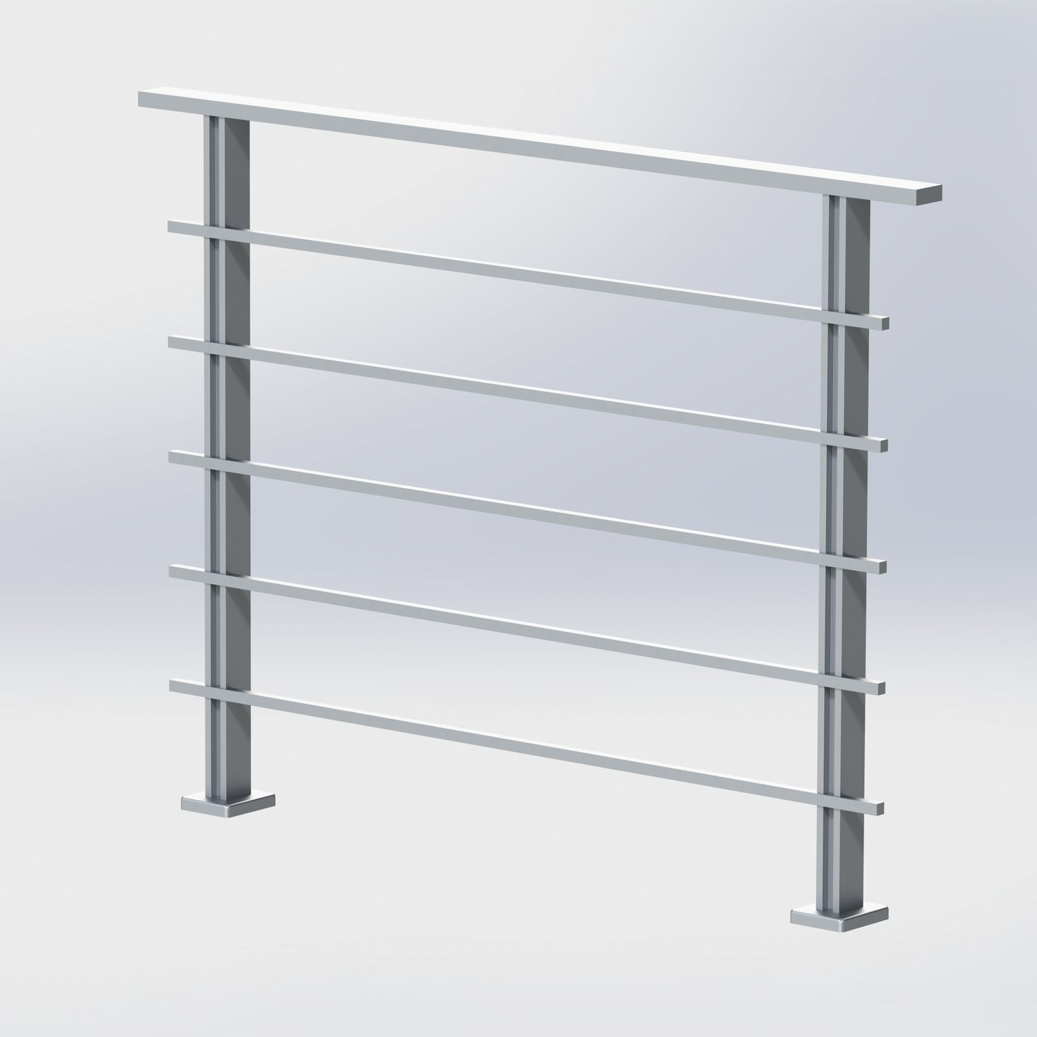 Aluminum Railing With Bars Outdoor For Balconies Ms 200