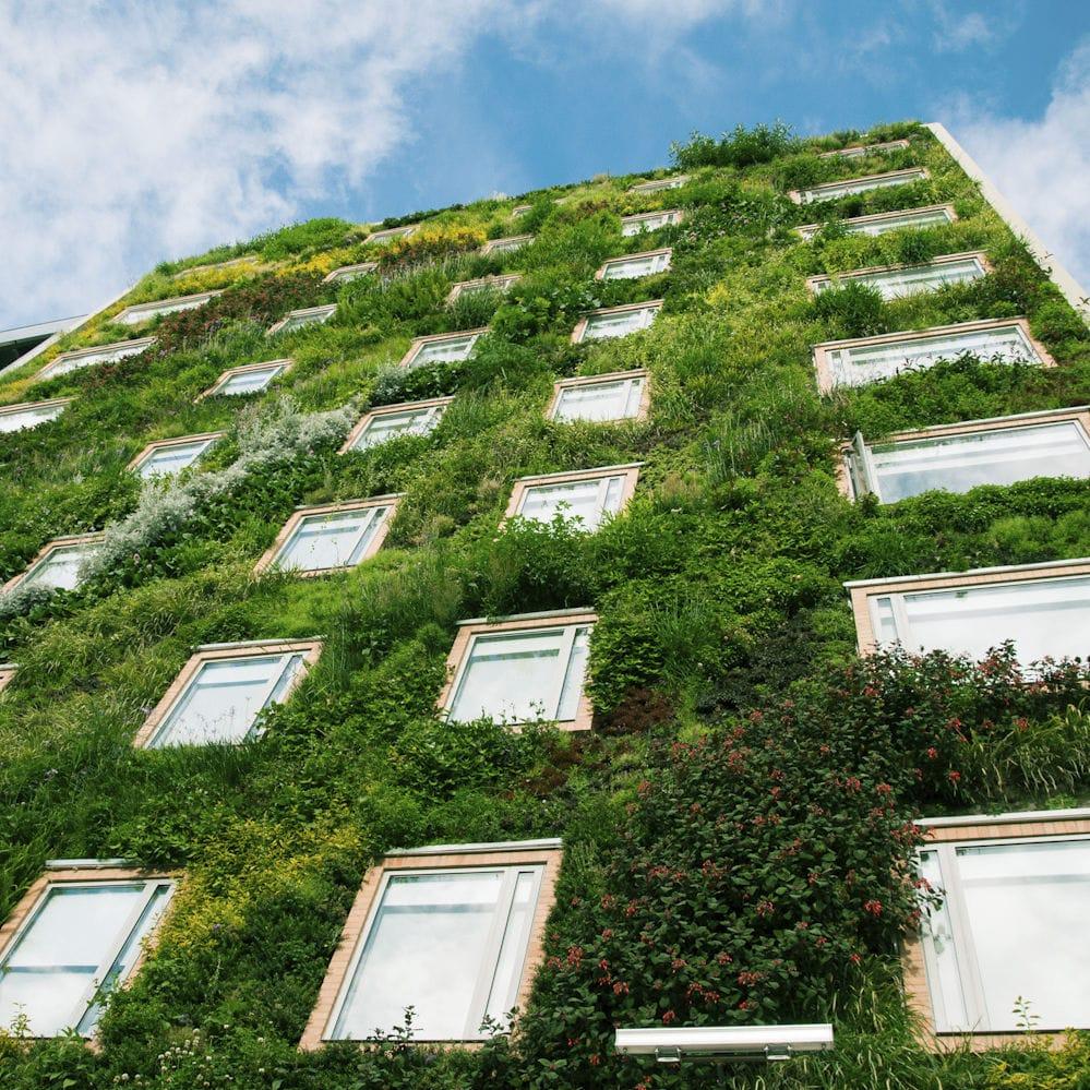 exterior green facade bioclimatic jardin vertical gaia b hotel