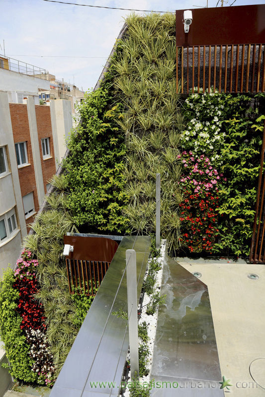 exterior green facade jardin vertical private house in murcia