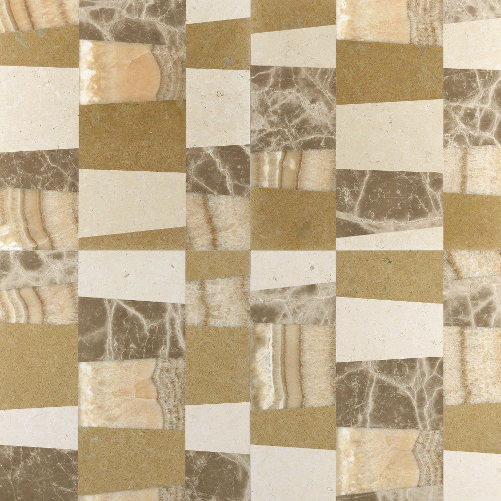 Wall-mounted tile / floor / marble / geometric pattern - PINO by ... - ^