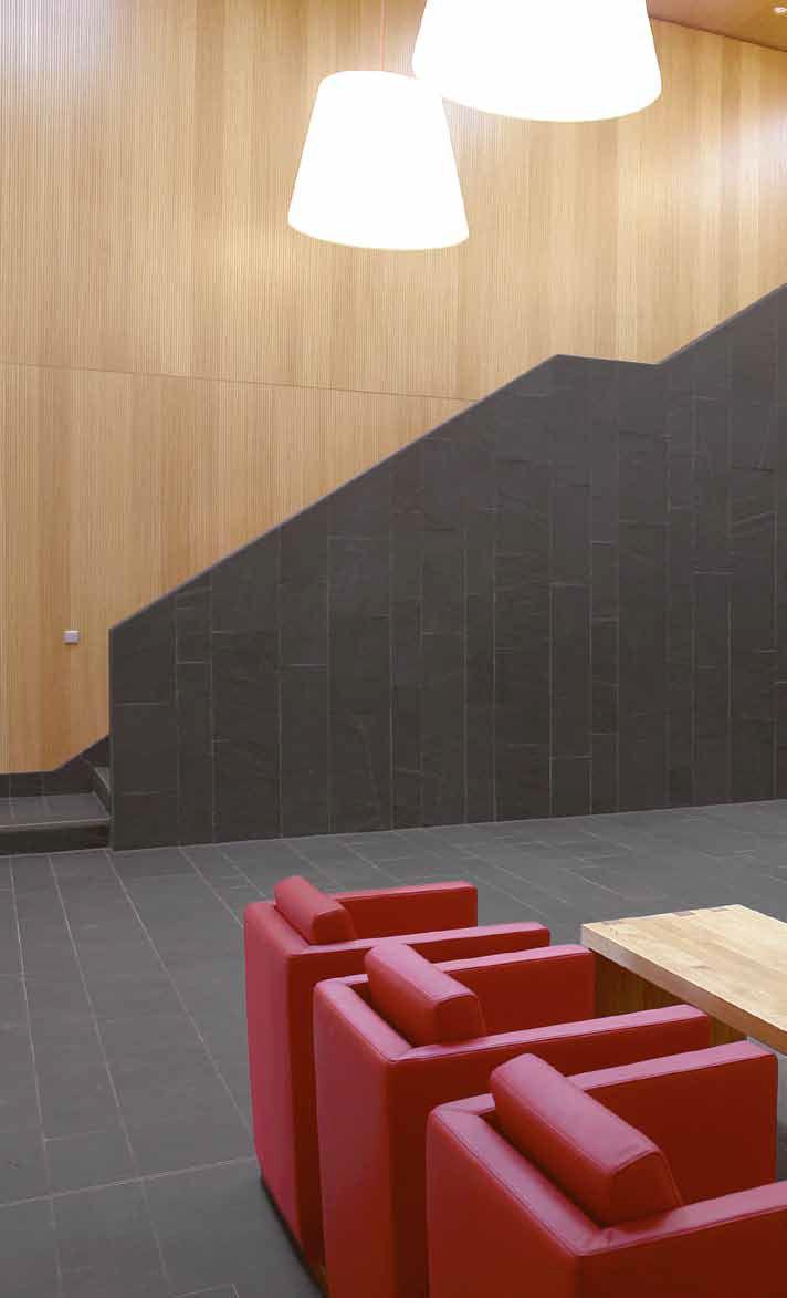 Indoor tile / floor / slate / polished - magog schiefer