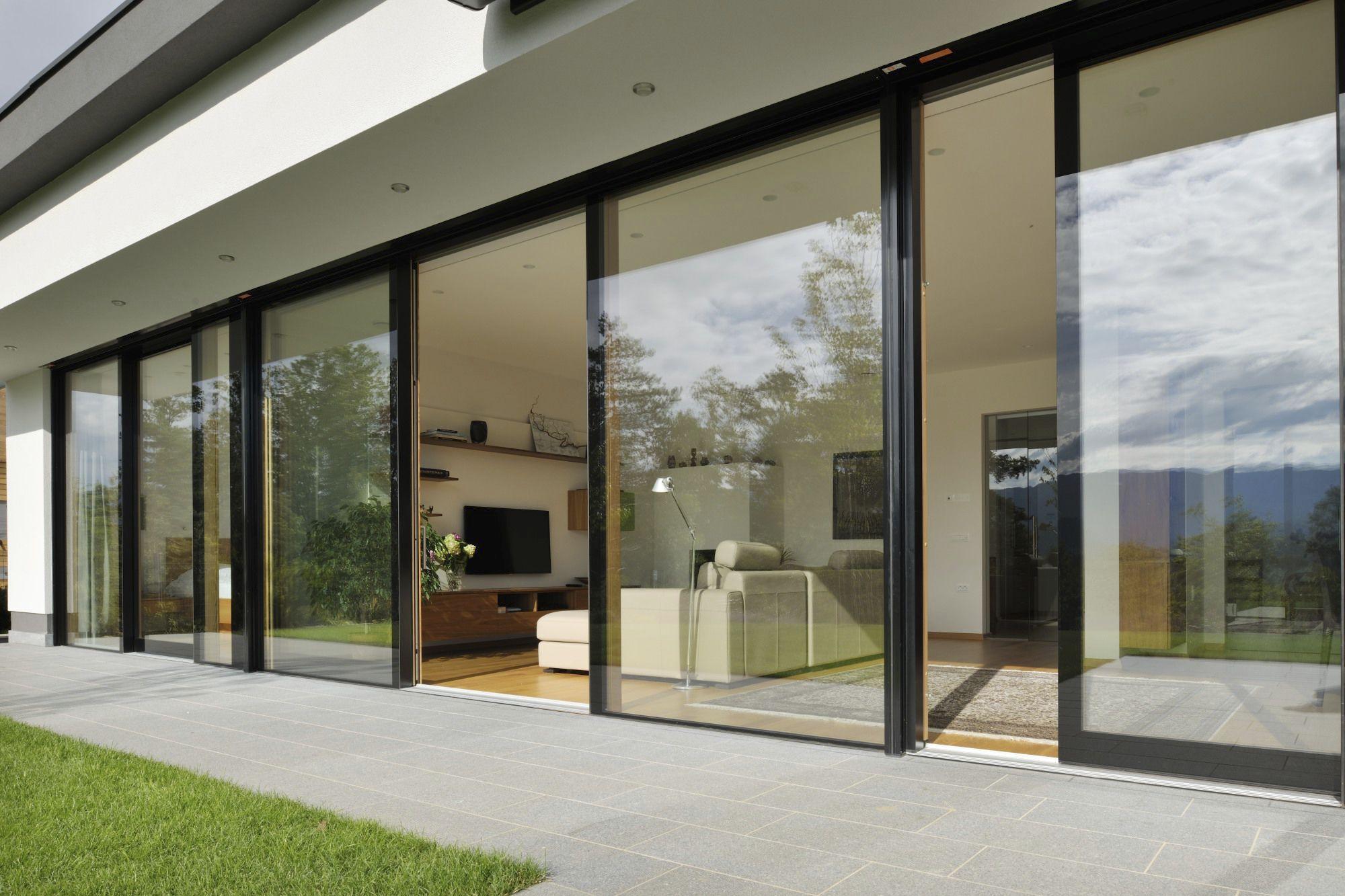Sliding patio door aluminum double glazed VISION M SORA