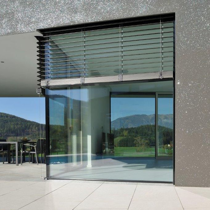 Lift And Slide Window Aluminum Double Glazed Thermally Insulated Vision