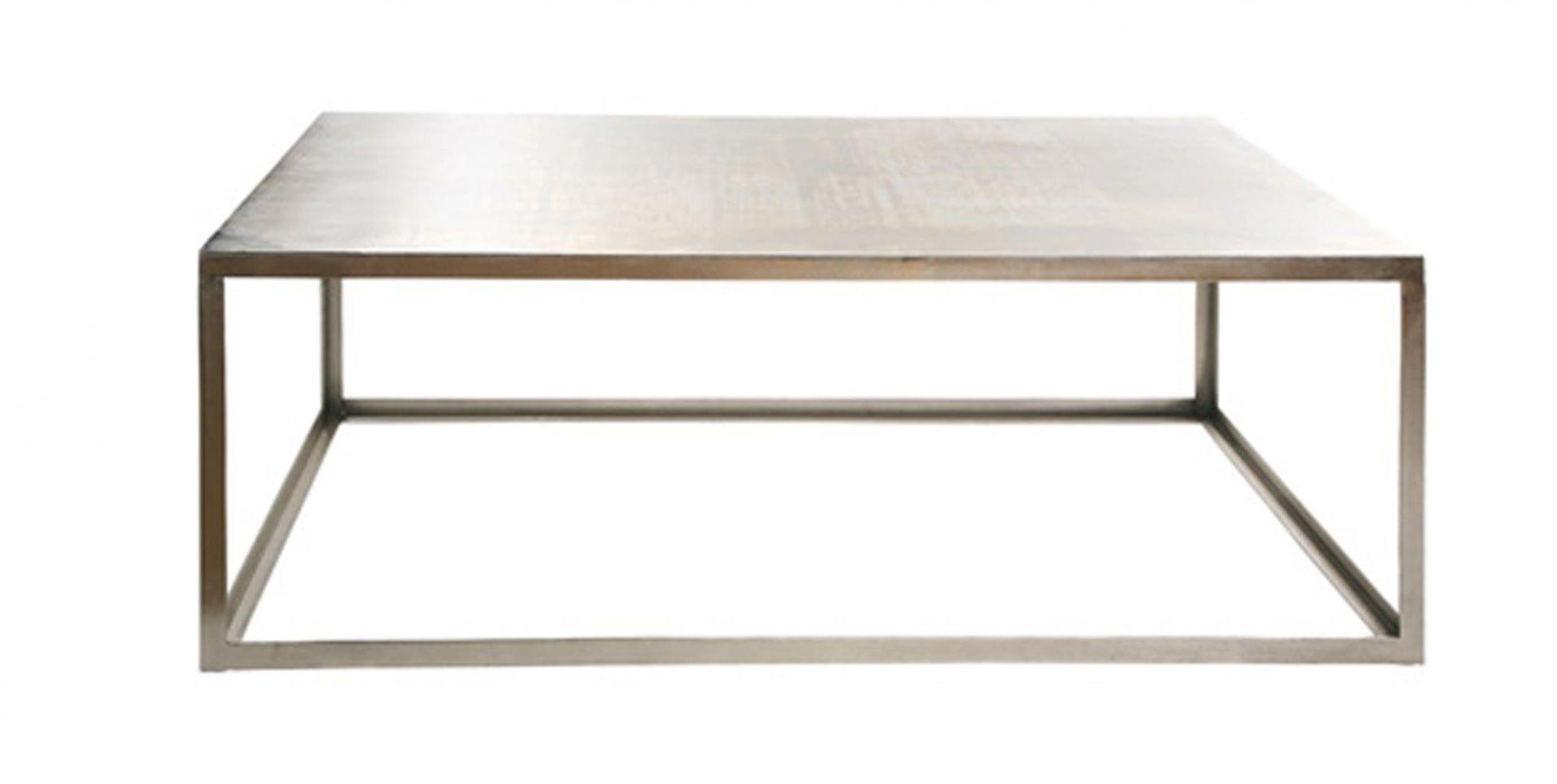 industrial style coffee table / metal / rectangular / square