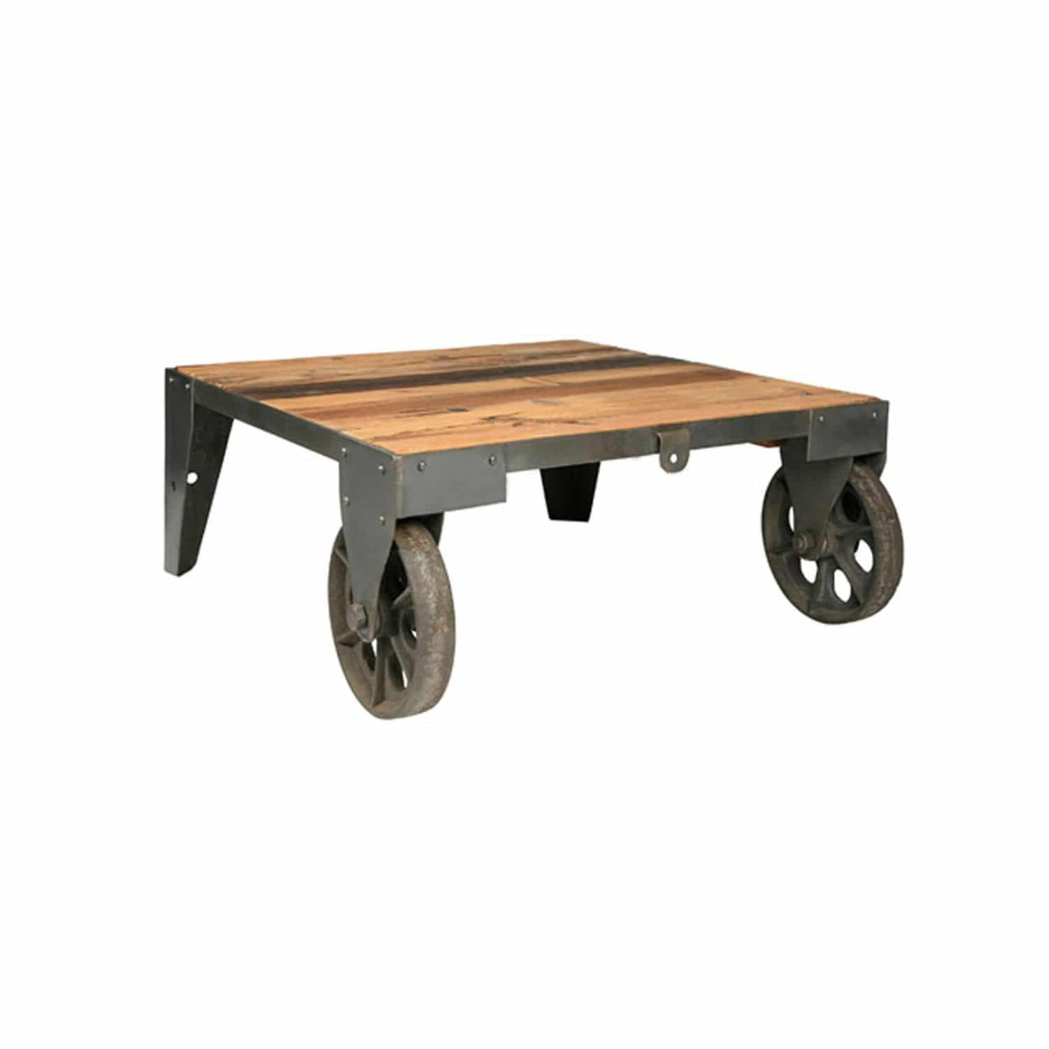 Coffee Coffee Table Industrial Style Wooden Metal Warehouse