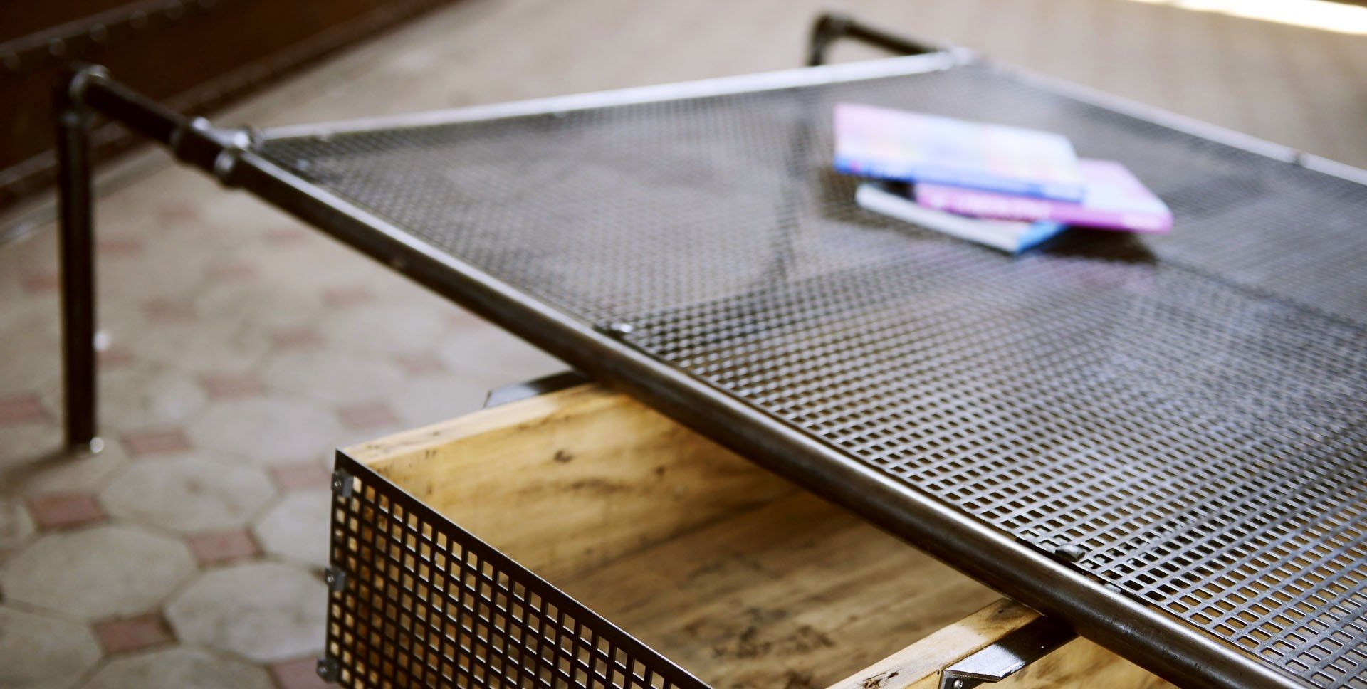 Industrial Looking Coffee Tables Coffee Table Industrial Style Steel Rectangular Spider