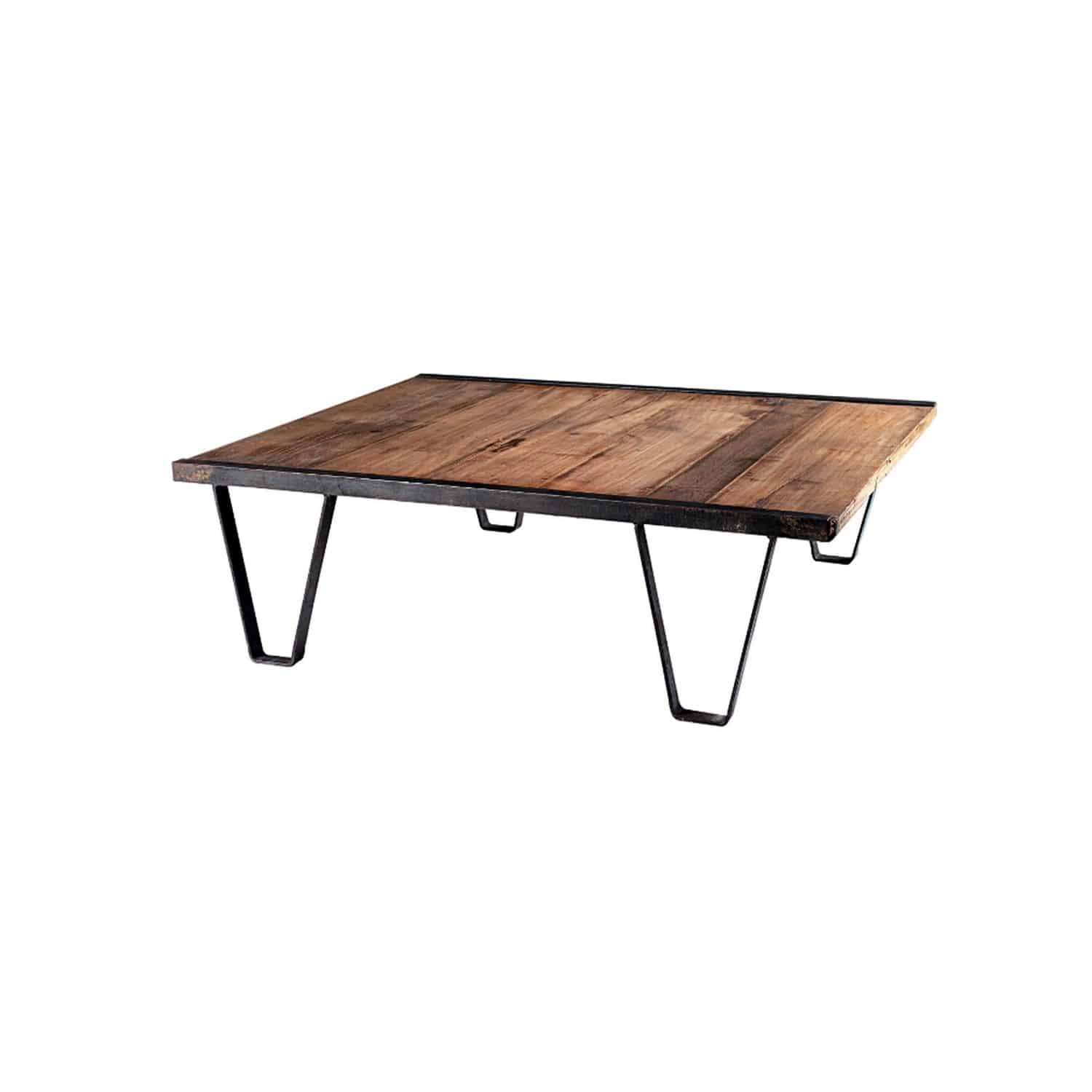 Good Industrial Style Coffee Table / Wooden / Metal / Rectangular   PLATFORM Part 24