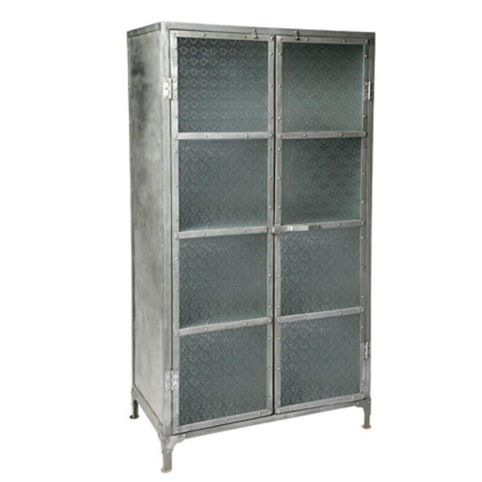 Industrial style bookcase / metal / glass - ORNEMENTAL - Industrial Style Bookcase / Metal / Glass - ORNEMENTAL - Metafor