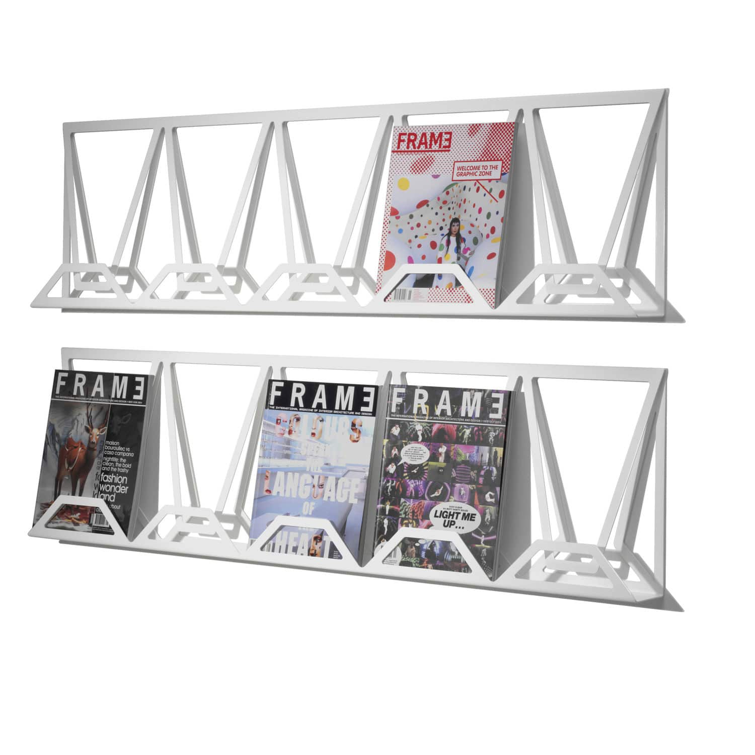 contemporary magazine rack  commercial  metal  xhibit  mitab - contemporary magazine rack  commercial  metal  xhibit
