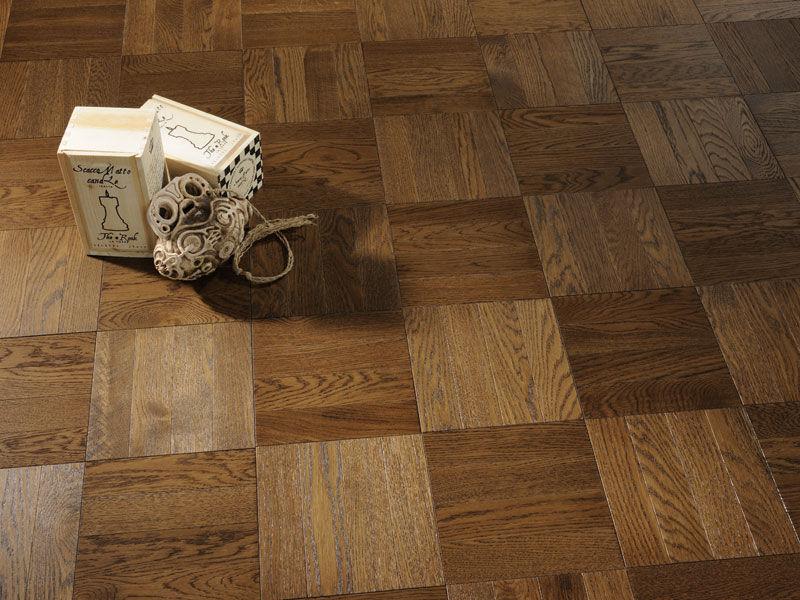Solid Parquet Floor Glued Oak Oiled Uniblock Flooring Milk