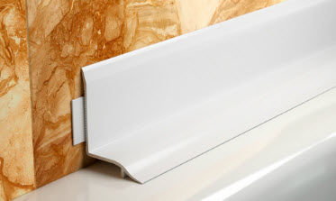 PVC Edge Trim / For Tiles / Inside Corner   BATH SEAL Part 35