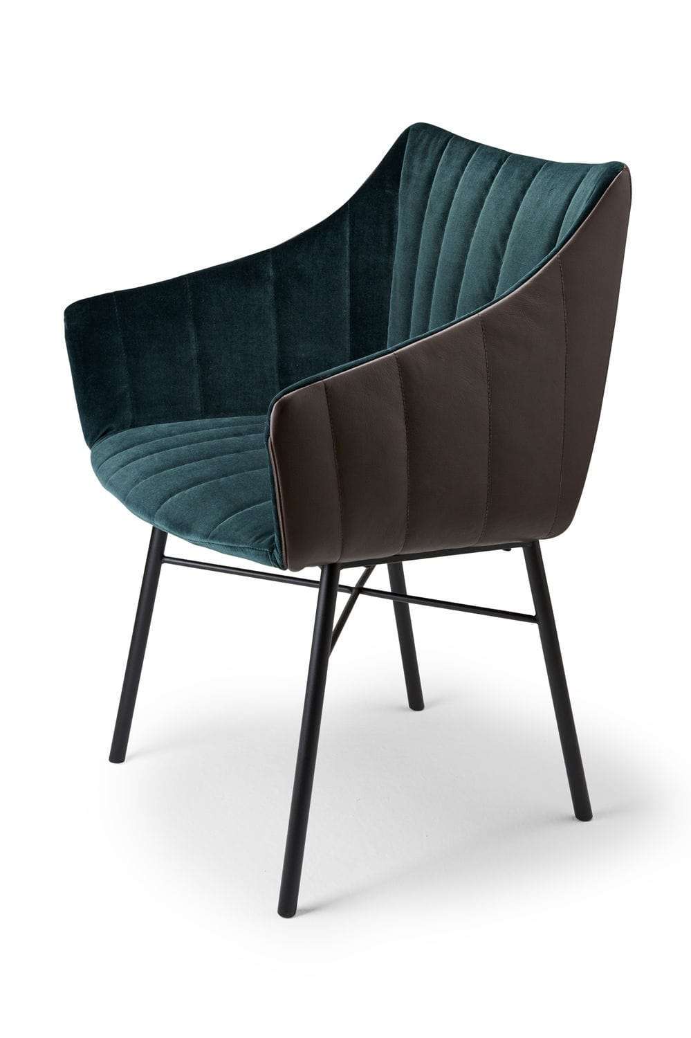 Metal outdoor club chairs -  Contemporary Chair Fabric Metal Leather Rubie By Murken Hansen Freifrau