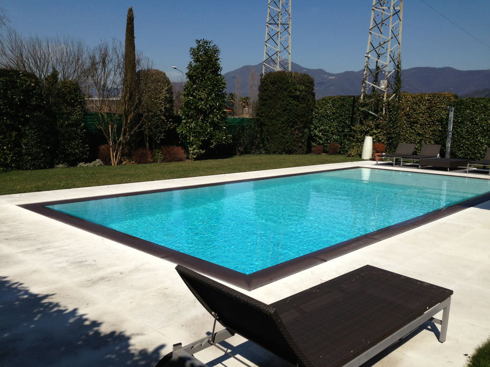 Contemporary sun lounger stainless steel pool EDILFARE PISCINE