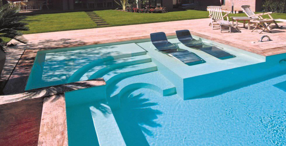 Contemporary Sun Lounger / Stainless Steel / Pool - Edilfare Piscine
