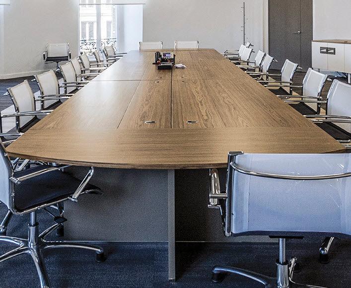 Contemporary Conference Table Wooden Rectangular Modular - Medina conference table