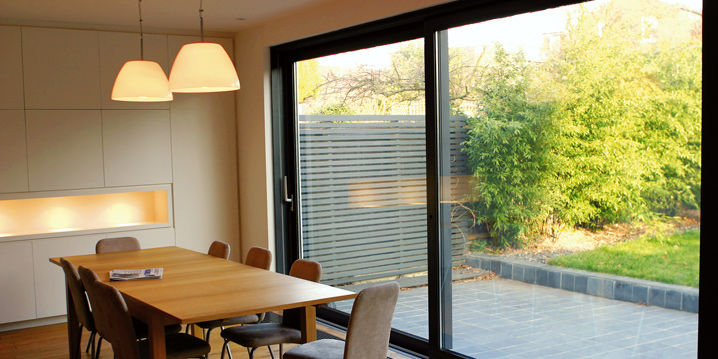 sliding patio door aluminum double glazed thermal break bali 60 - 60 Patio Door