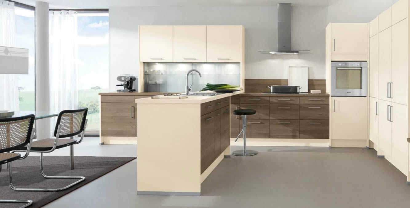 Laminate Kitchen Contemporary Kitchen Laminate Island 205 Sierra 241 Aura