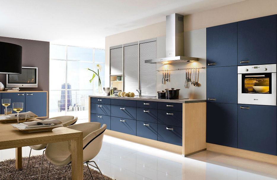 Contemporary Kitchen Laminate Lacquered Matte 241 Aura