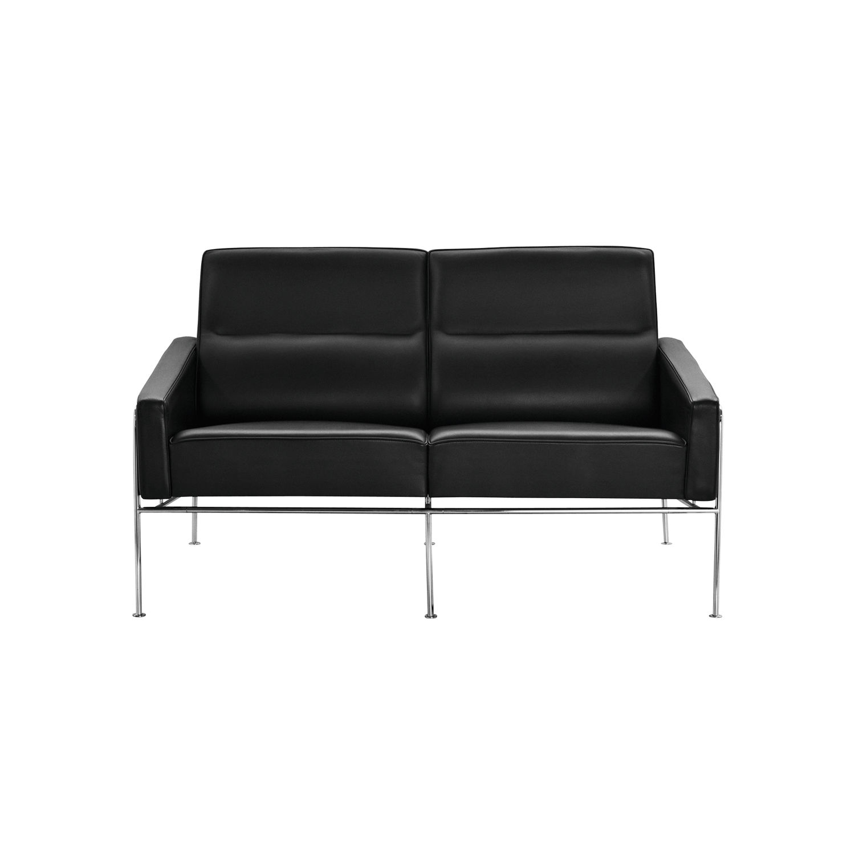 Scandinavian Design Sofa Fabric Leather Steel 3300