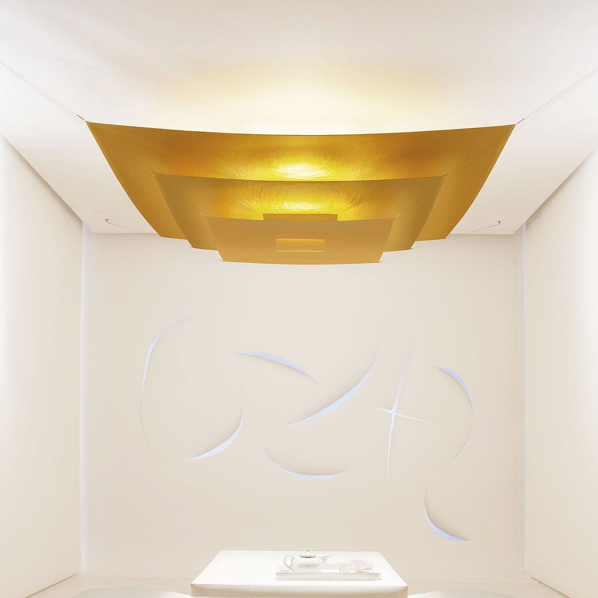 Contemporary ceiling light aluminum polyester japanese paper contemporary ceiling light aluminum polyester japanese paper luxury pure mozeypictures Images