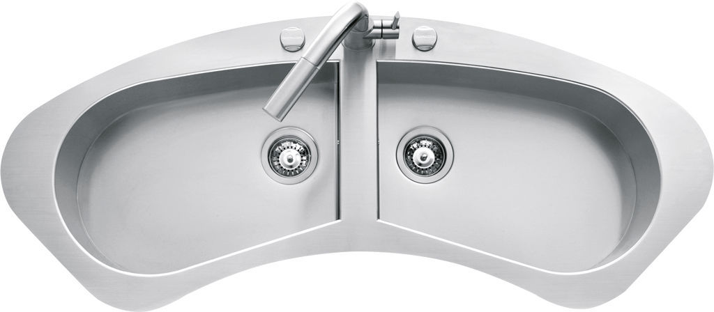 Attractive Double Kitchen Sink / Stainless Steel / Oval   1LTA120C