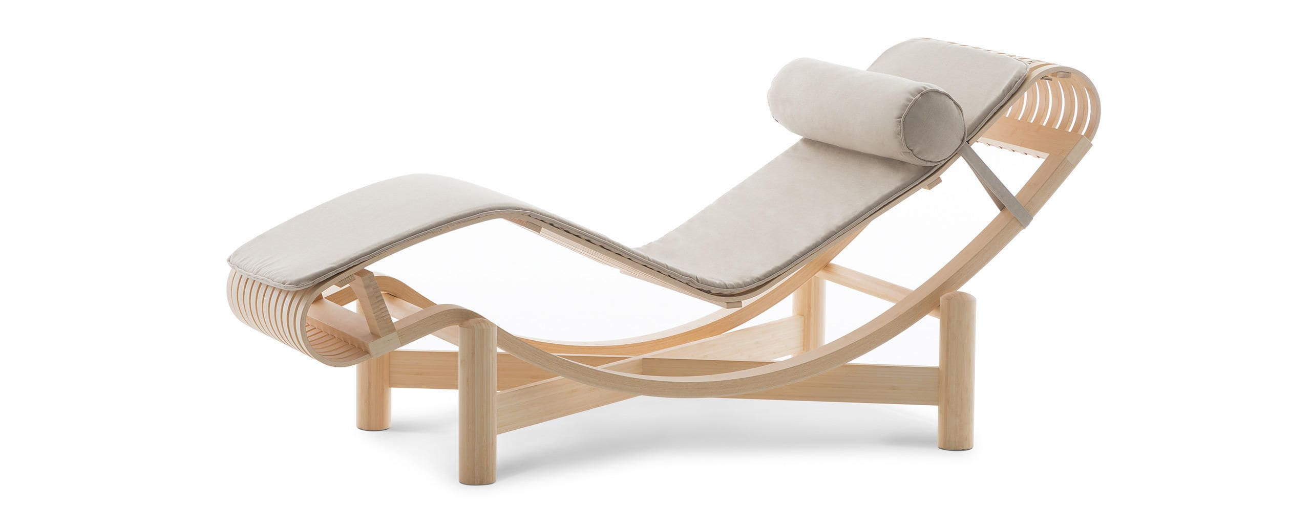 Contemporary chaise longue / wooden / indoor / outdoor - 522 TOKYO ...
