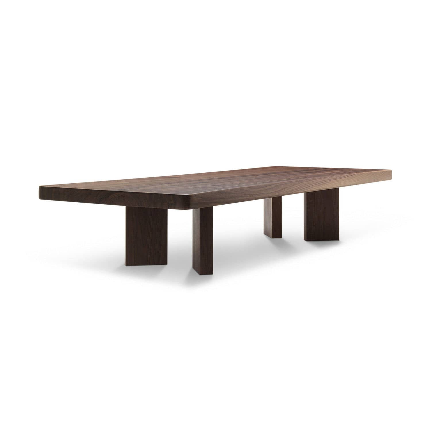 contemporary coffee table oak american walnut stained wood