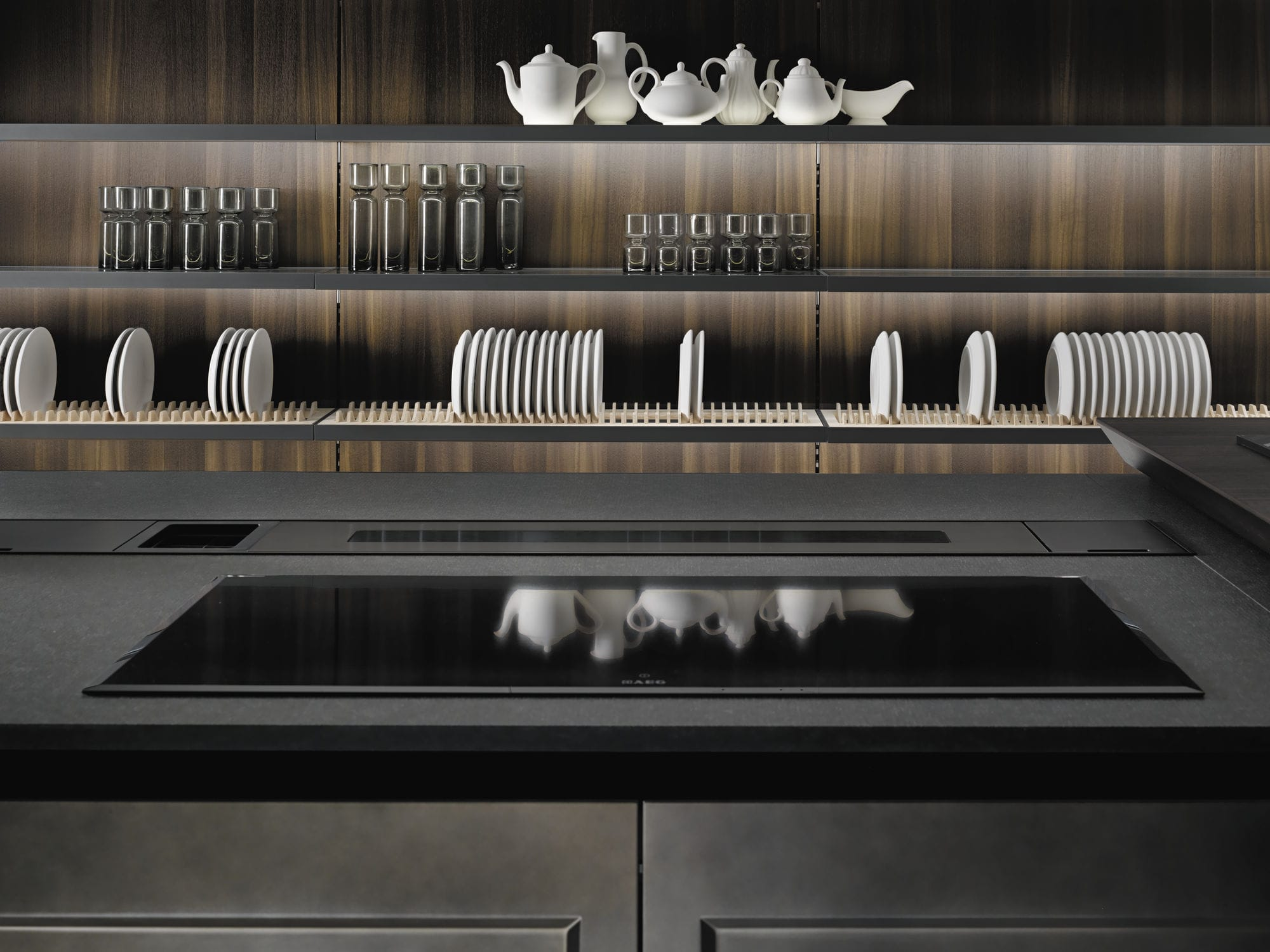 Contemporary kitchen glass metal island FIL' by Roberto