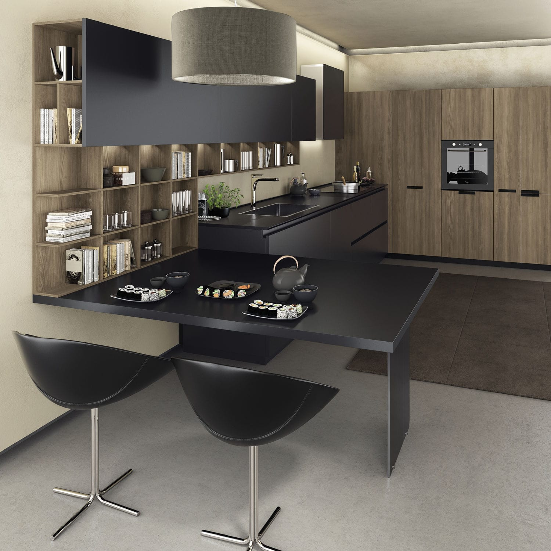 Contemporary Kitchen / Melamine / Lacquered / Ecological   FILOLAIN LAIN  MULTISYSTEM
