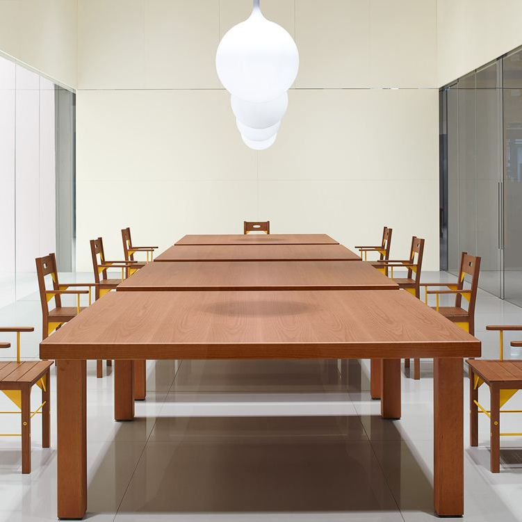 Contemporary Boardroom Table Wooden Rectangular Modular - Wooden boardroom table