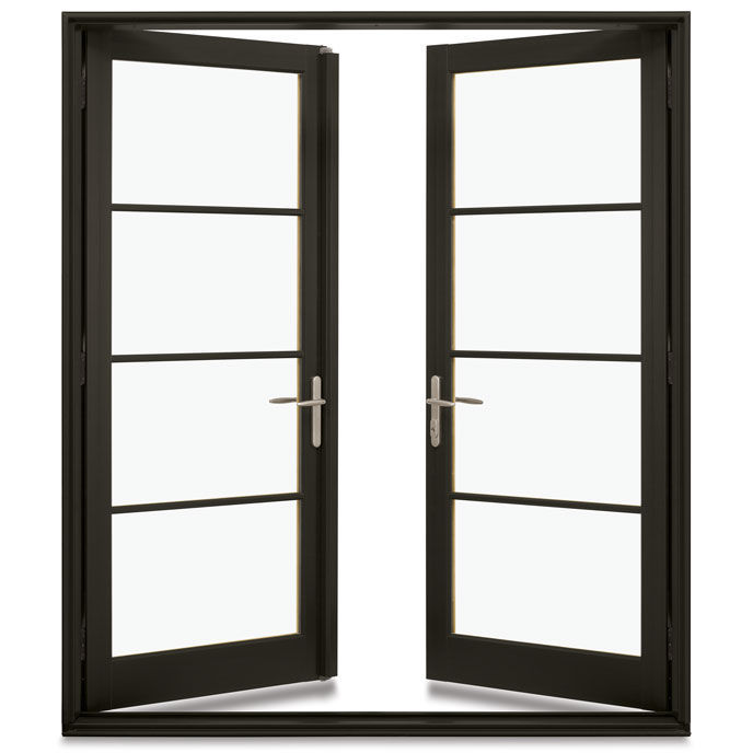 Swing French Door / Wooden / Double Glazed   INTEGRITY IMPACT