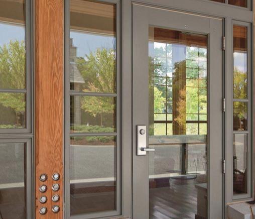 Entry door / swing / wooden - COMMERCIAL - MARVIN