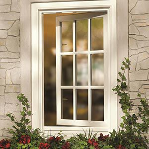 casement window wooden aluminum double glazed inswing marvin