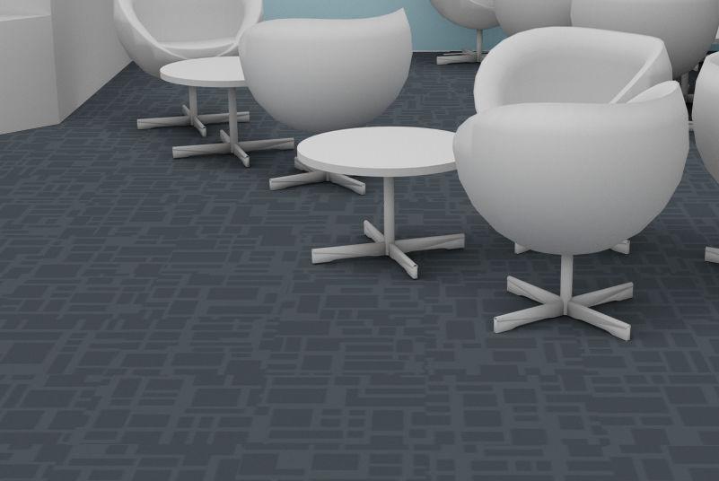 Carpet Tile Loop Pile Structured Polyamide