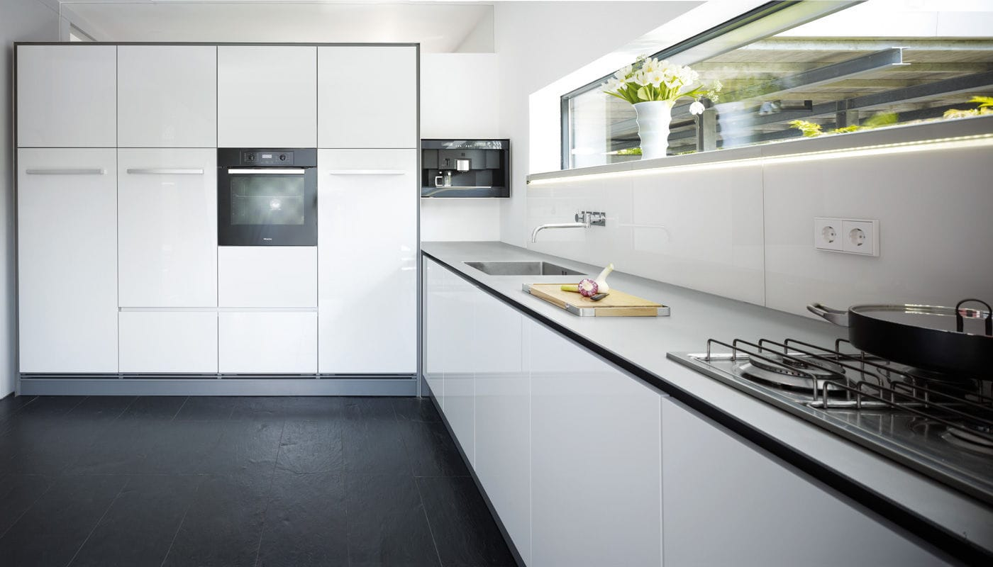 Küchen In Bielefeld contemporary kitchen stainless steel lacquered high gloss