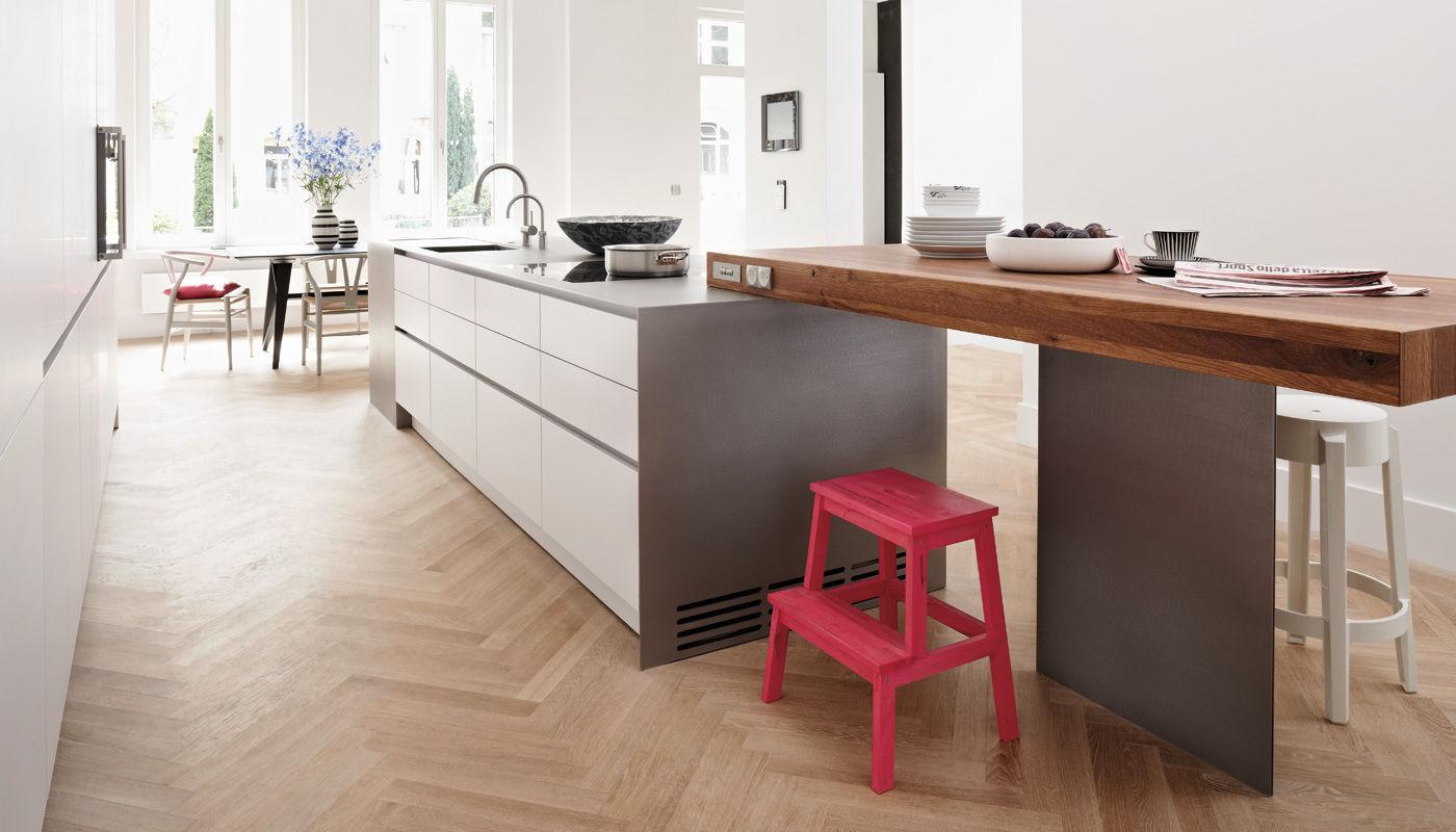 bulthaup kuchen bielefeld, contemporary kitchen / stainless steel / laminate / island - house, Design ideen