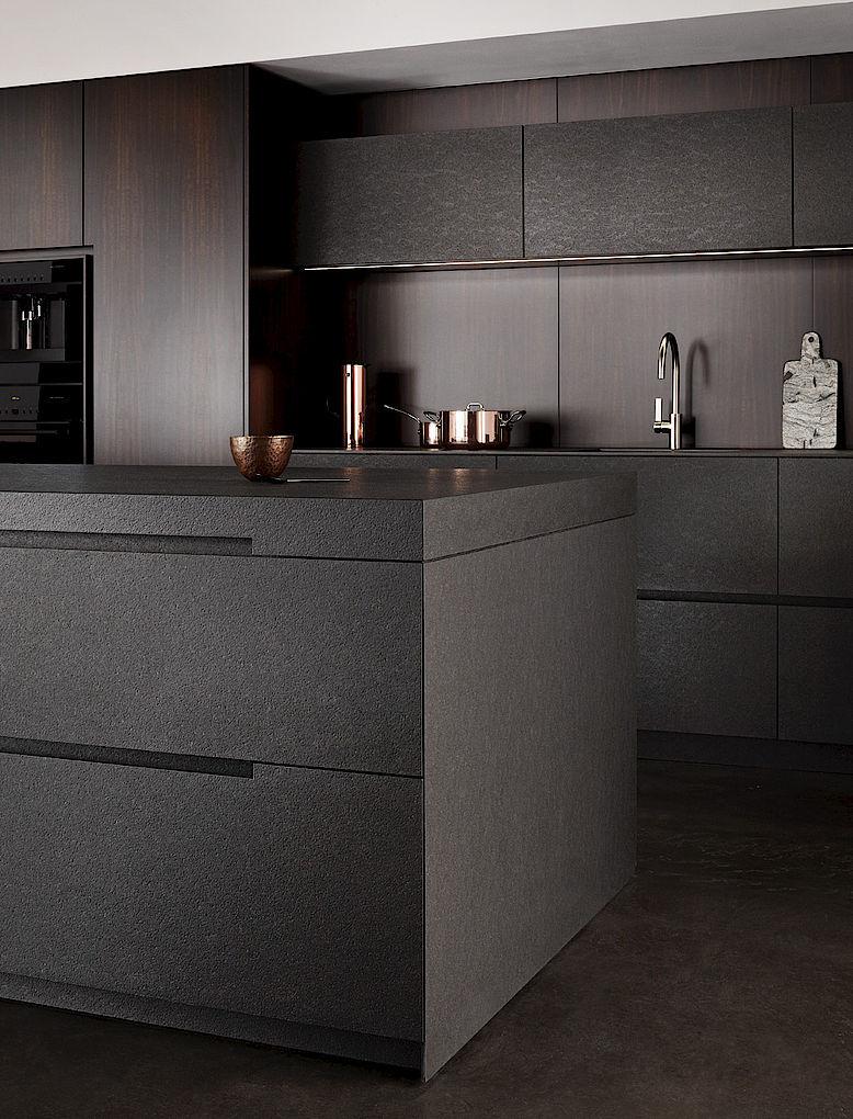 Eggersmann Küche | Contemporary Kitchen Wooden Stone Island Nero Assoluto