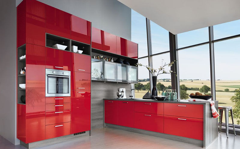 Contemporary Kitchen Wood Veneer Laminate Island Star