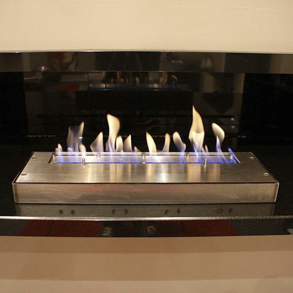 Bioethanol fireplace contemporary open hearth corner