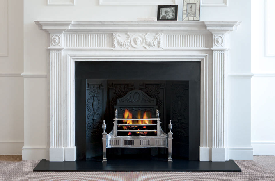 Wood-burning fireplace / traditional / open hearth / built-in ...