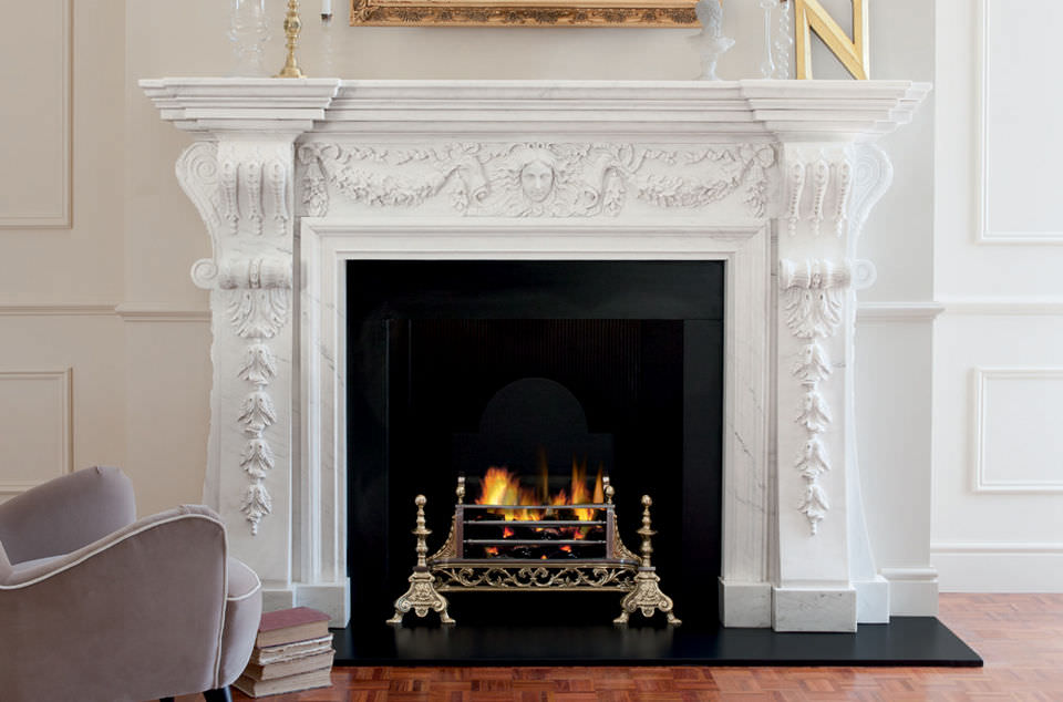 Fireplace Design open hearth fireplace : Wood-burning fireplace / traditional / open hearth / built-in ...