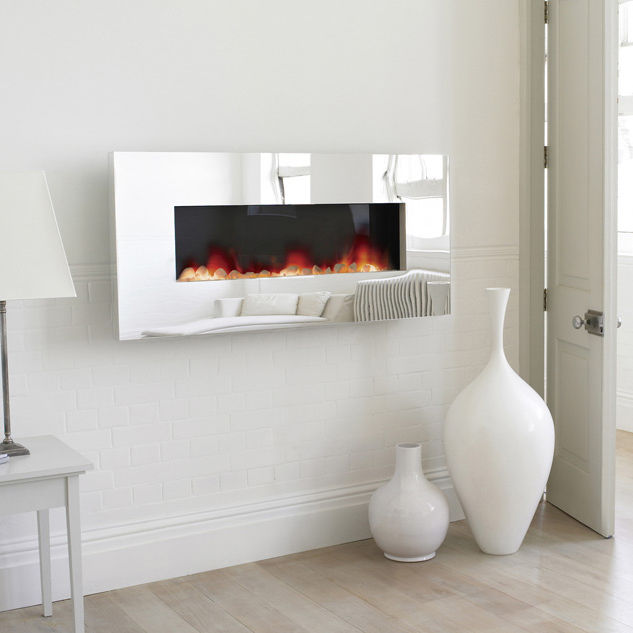 Electric Fireplace electric fireplace wall mount : Electric fireplace / contemporary / closed hearth / wall-mounted ...
