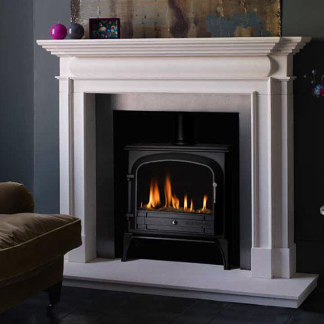 Gas fireplace / traditional / open hearth / built-in - BLOOMSBURY ...