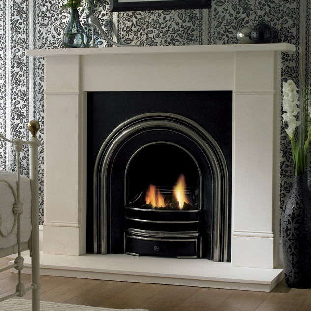 gas fireplace traditional open hearth built in flat rh archiexpo com flat screen above gas fireplace flat wall mount gas fireplace