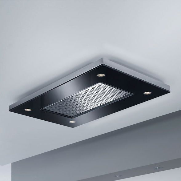 Ceiling Mounted Range Hood With Built In Lighting Capa
