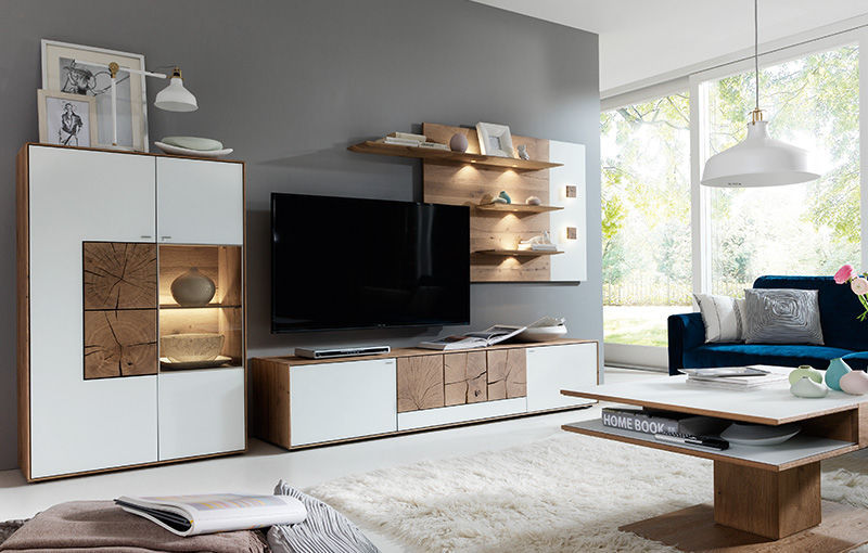Contemporary TV wall unit / oak - CAYA - Hartmann Möbelwerke GmbH ...