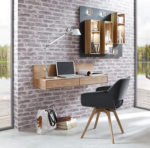 Oak desk / contemporary / wall-mounted - CAYA - Hartmann Möbelwerke ...